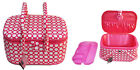 Suzy's Hobby Baskets Large Oval Pink Dot