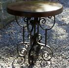 Antique hand wrought iron table with pine top circa 1885 Excellent original cond