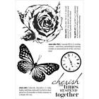 Treasured Moments Collection Clear Unmounted Rubber Stamps Kaisercraft CS246 NEW