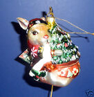 Fitz and Floyd Christmas Lodge Rabbit Ornament- New in Box-19/1139