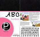Pebbles FOAM Rubber Stamps ABC BONBON NEW Sealed Pkg UPPER LOWER  NUMBERS
