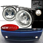 For Escape 35 Round Clear Lens White Bumper Fog Light Lamp + Switch