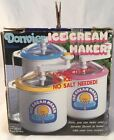 Vintage Donvier Chillfast 1 Pint Ice Cream Maker Hand Crank in Box (PINK)