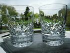 WATERFORD IRISH CRYSTAL..LISMORE PATTERN.DOUBLE OLD FASHIONED GLASSES.SET OF TWO