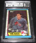 1989-90 Topps Joe Sakic Signed Rookie Card BGS 8 JSA Auto RC Nordiques Avalanche