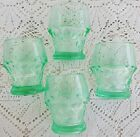 Vintage Georgian Juice Glasses Tumblers Unusual Green Blue Color Set of 12 Glass