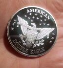 American Mint Double Eagle Liberty 1985 Silver Coin 1 Troy oz .999 Silver Coin
