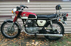 Honda: CB 1969 red honda cb 350 see you tube video barn find well kept and maintained