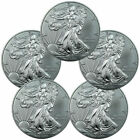 FIVE (5) BU 2016 1 oz. American Silver Eagles, Lot of 5