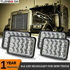 4pcs LED Headlights For Kenworth W900L Peterbilt Western Star Freightliner FLD