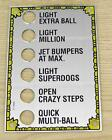 New! Williams Funhouse Pinball Machine Mirror Plastic Sign 31-1602 Free Shipping