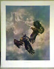 1987 Ted Blaylock, Pencil Signed Print, low # 94 / 950, ROCKY MOUNTAIN COURTSHIP