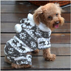Dog Baby puppy Soft Winter Hoodie Jumpsuit Coat Clothe Costume for Chihuahuas