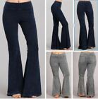 Chatoyant Stone Effect Hippie Bell Bottom Flare Stretch Pants Yoga Plus S 3X