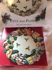 FITZ & FLOYD Holiday Toyland 3-D Ceramic Canape Display Plate NEW  $34 RETIRED