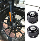 Pack of 2 Skull Front Axle Nut Cover Bolt Kit for Harley-Davidson Touring Dyna