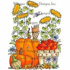 Autumn Fall Harvest Unmounted Rubber Stamp Whipper Snapper Designs New AZ256