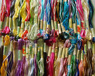 50 Variegated Art Silk Rayon Stranded Embroidery Skeins 50 Different Colors