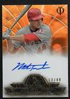 2014 TOPPS TRIBUTE TO PASTIME MARK TRUMBO AUTOGRAPHED CARD TPT-MT SN 17 40