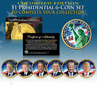 LIVING PRESIDENTS 2016 Presidential 1 Dollar COLORIZED 2 SIDED 5 Coin Full Set