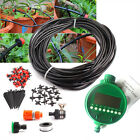 25m Micro Drip Irrigation System Auto Timer Self Plant Watering Garden Hose Kits