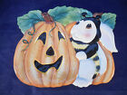 FITZ AND FLOYD HALLOWEEN BUNNY BLOOMS CANAPE PLATE