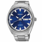 New Seiko Men's Analog Display Automatic Self Wind Silver Watch SNKN41
