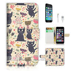 ( For iPhone 7 Plus ) Wallet Case Cover P1887 Kitten Cat