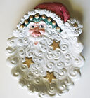 Fitz & Floyd 'Snow Business' Santa Face Canape, Cookie Plate or Plaque Christmas