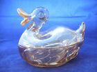 jeanette covered dish duck candy or trinket 6x4 1/2