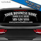 Personalized Business Decal - Custom Vinyl Graphicbumper Sticker Window Car