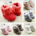 Baby Kids Girls Knitted Boots Booties Fleece Warm Winter Snow Crib Shoes 0 18M