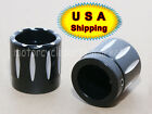 Black CNC Edge Cut Front Axle Nut Cover Bolt Kit For Harley Touring Softail USA