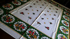 Vtg German TRADITIONAL BELL CANDLE STAR Christmas Tablecloth 48x56