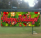 HAPPY HOLIDAYS Advertising Vinyl Banner Flag 18 x 48 Other Sizes Available