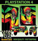 PS4 Skin Rasta Man Dreads Beanie Chilled Weed Sticker + Pad decal Vinyl STOOD