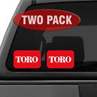 TORO Logo TWO PACK 55 Tractor Implement Cart Mower Logo Decal Sticker