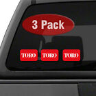 TORO Logo THREE PACK 35 Tractor Implement Cart Mower Logo Decal Sticker