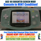 Nintendo Game Boy Advance GBA Glow in Dark System AGS 101 Brighter Backlit Mod