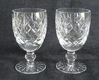 Waterford Crystal DONEGAL Pattern Claret Wine Glasses, Pair