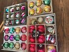 Mixed Lot Shiny Brite Glass Ornaments Stencil Double Indents Stripes Mica