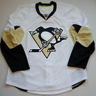 PITTSBURGH PENGUINS REEBOK AUTHENTIC JERSEY MENS SIZE 52 54 WHITE FIGHT STRAP