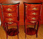 Gorgeous Pair Of French Louis Style Side Tables Or Night Stands Chest of Drawers
