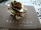 Silpada Sterling Silver Brass Copper Cha-Cha Ring Sz 8  R1978 Retired!
