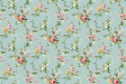 Victorian Floral Vines French Blue Charlotte Northcott REMNANT 3 4 Yard
