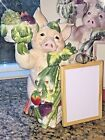 Fitz & Floyd PERCY THE PIG with MENU BOARD Whiteboard NEW IN BOX Missing pen