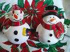 Holiday Snowman Salt  Pepper Shakers Festive Home Decor