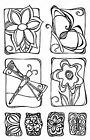 NATURE Zenspiration Clear Unmounted Rubber Stamps Impression Obsession CL642 NEW