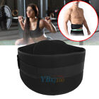 Weight Lifting Belt Waist Back Support Strap Power Dip Training Fitness Black