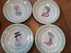 Pfaltzgraff Pottery CIRCLE of KINDNESS 4 Flip Around Bread Plates EUC :-)